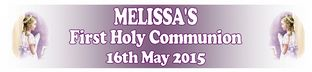 Personalised Girl First Communion Banner Design 4